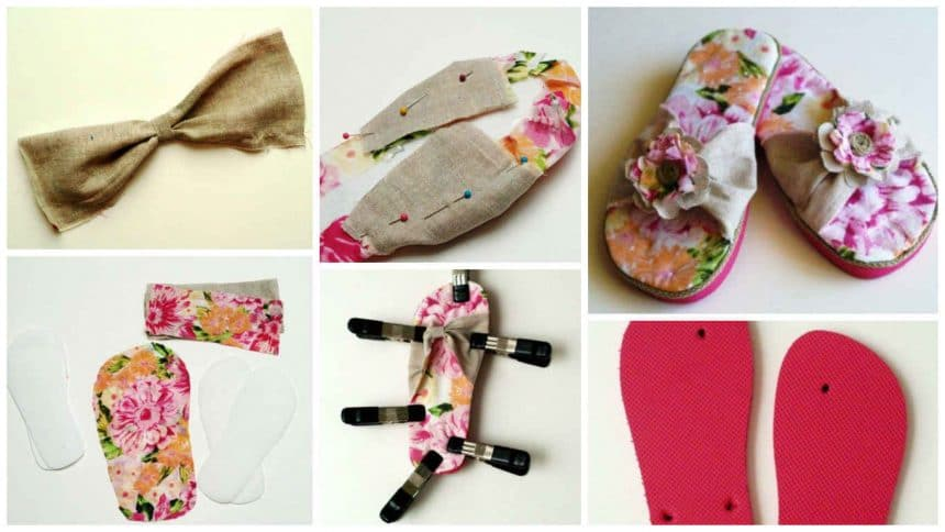 How to make beautiful slippers