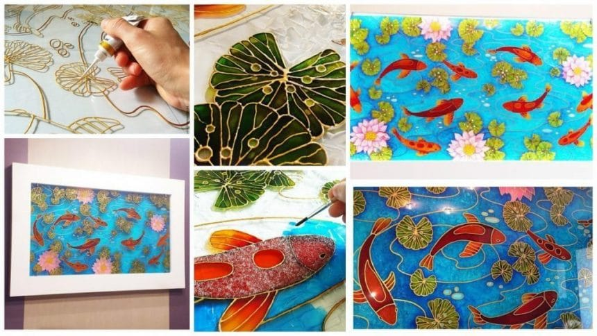 How to make glass painting