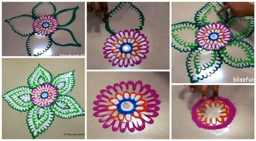 Rangoli making (flower)
