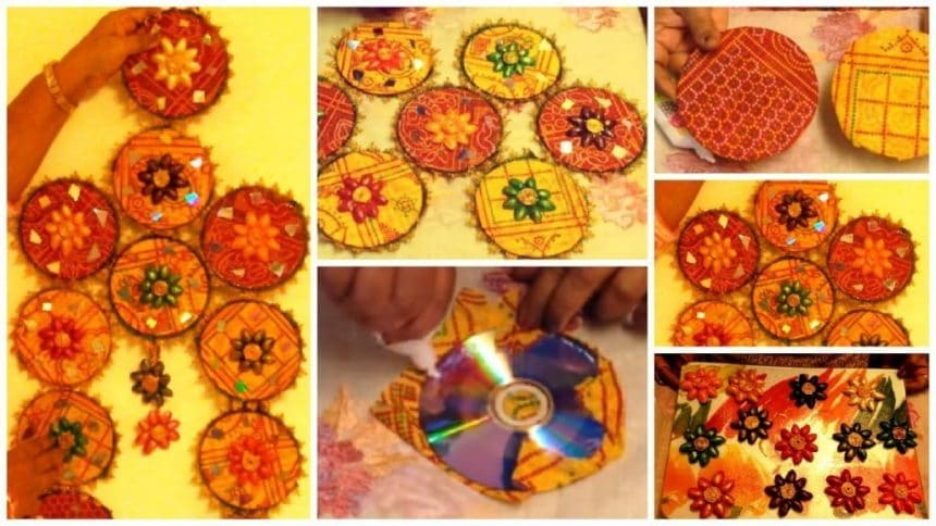 How to make art from CDs and Pista shells