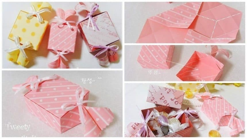 How to make candy shaped candy box