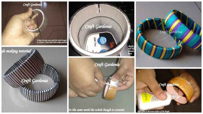 Basic tutorial of silk thread bangle making