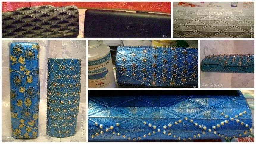 Designer clutch purse from eyeglass cases