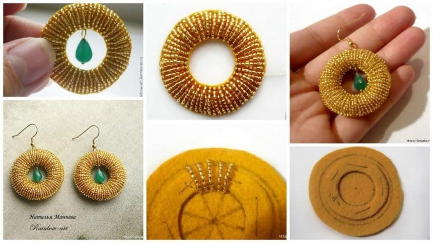 How to make beaded earring