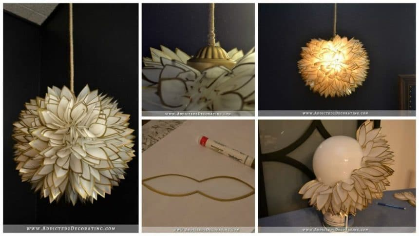 How to make white flower pendant chandelier
