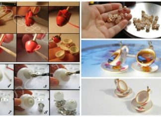 How to make miniature cups and saucers pendant