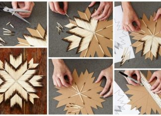 How to make matchstick star