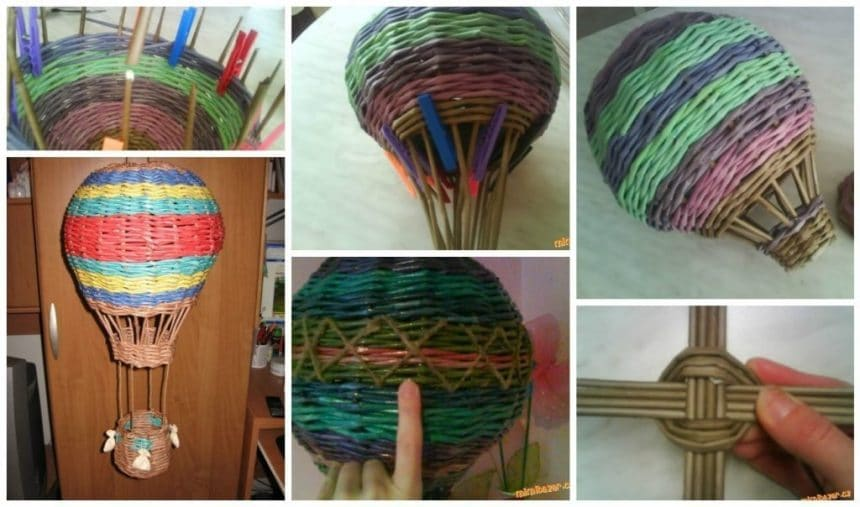 Making balloon with newspaper tubes