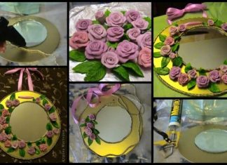 How to make beautiful mirror roses