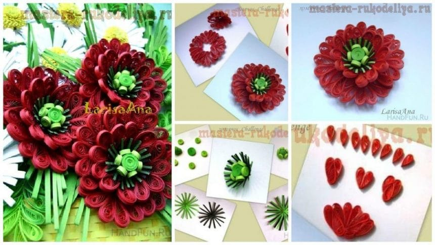 How to make quilling poppy