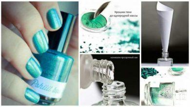 Make the nail polish of any colour