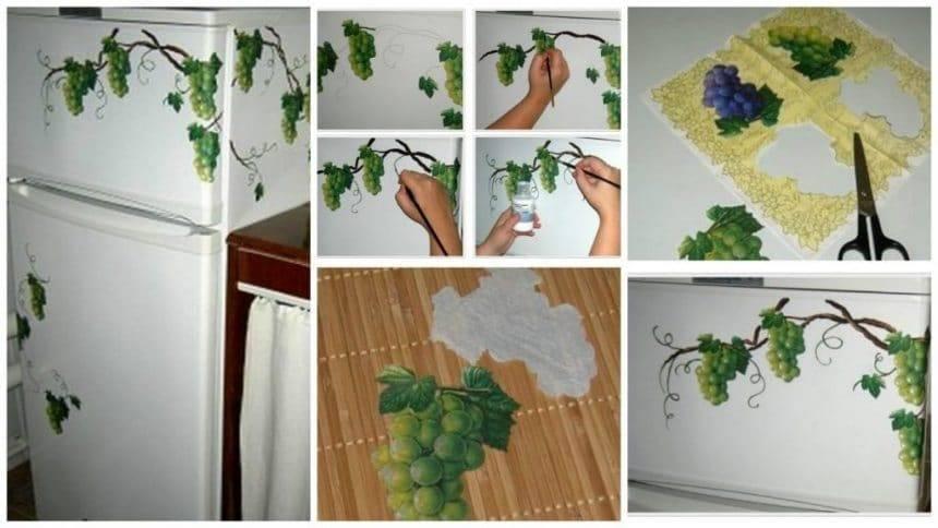 How to make decoupage refrigerator