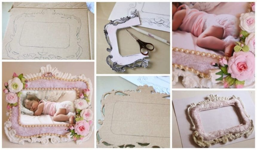 How to make a frame for baby photo