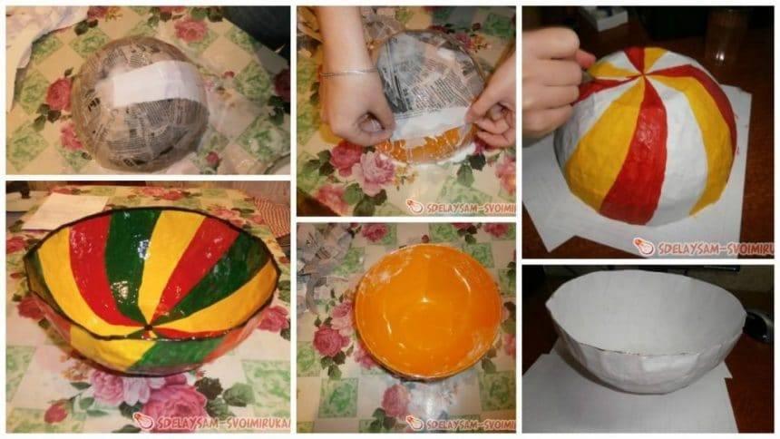 "Vase in the technique of ""papier-mache"""