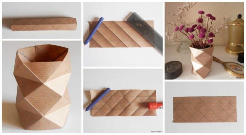 Origami stylish vase