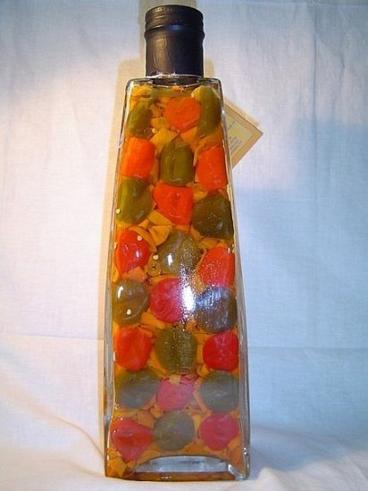 Decorative Bottle With Vegetables For The Kitchen Decor