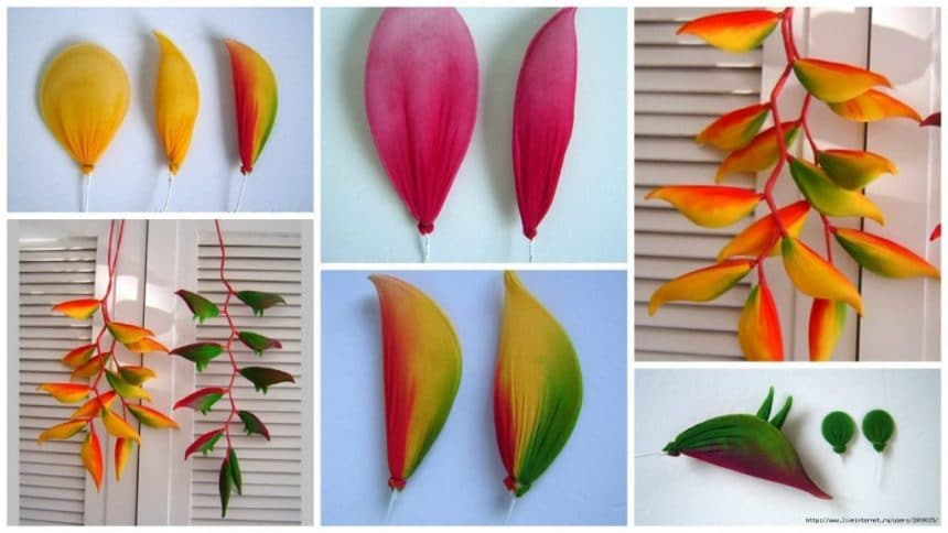 How to make bird of paradise flowers from nylon