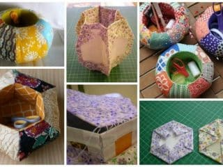 Soft hexagons box for sewing