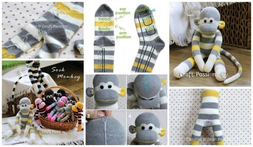 How To Make Monkeys From Old Socks