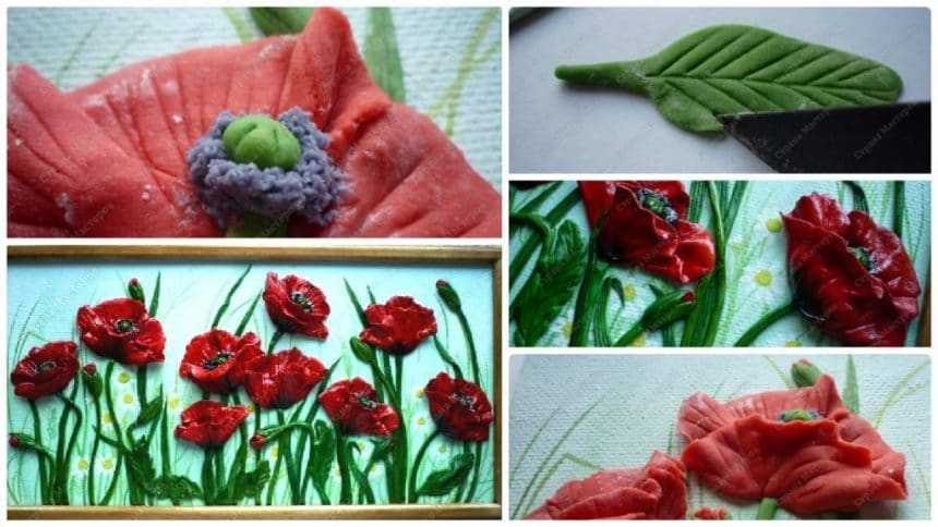 """How to make dough """"Poppies"""""""