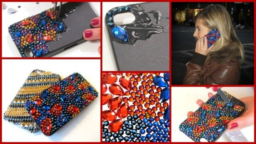 How to make phone case with crystal stone