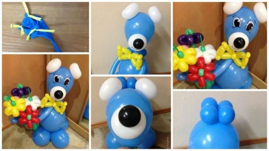 How to make Bear of balloons