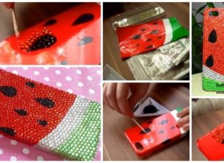 How to make glitter sparkly watermelon cell phone case