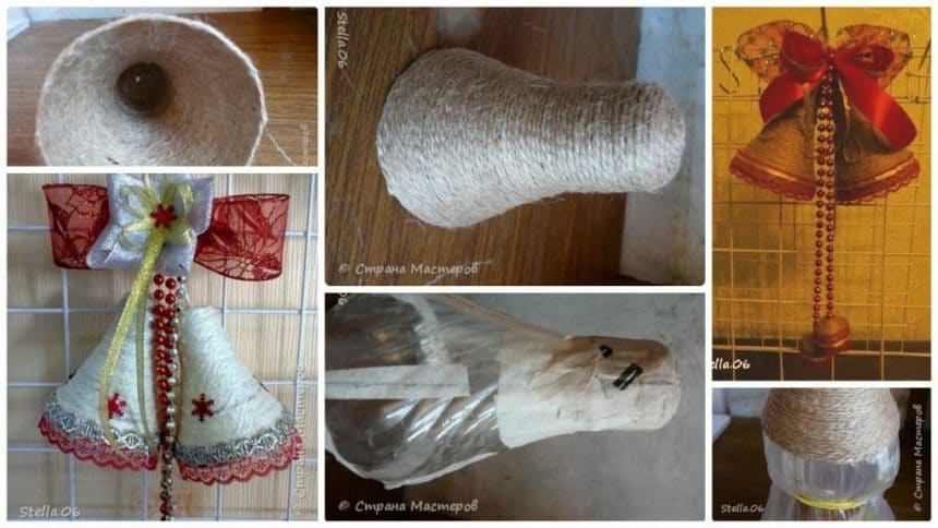 Process of making bells from plastic bottle