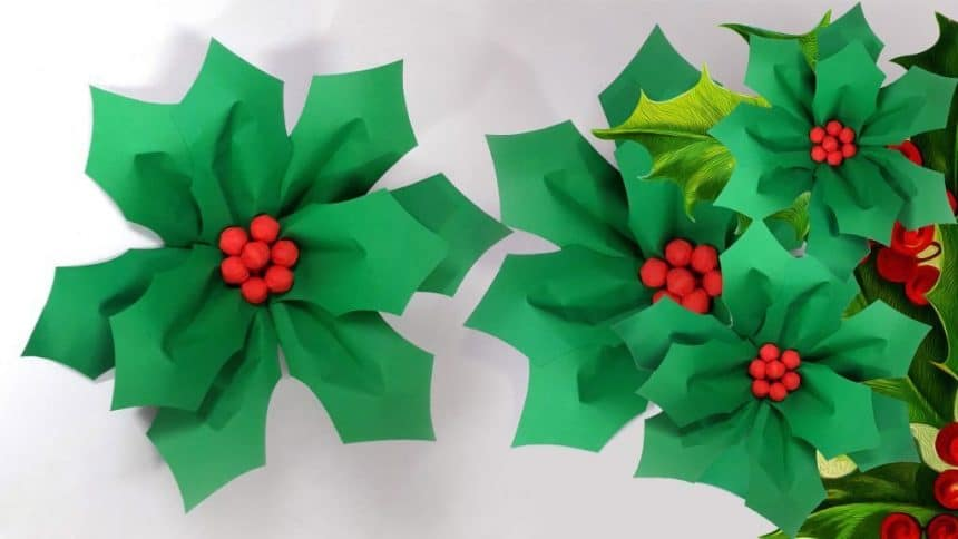 paper stars garland - Easy Paper Christmas Decorations