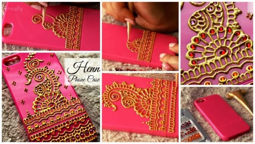 How to make your own henna inspired Phone case