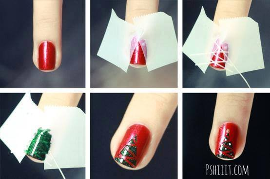 Christmas Nail Art Tutorial(154)