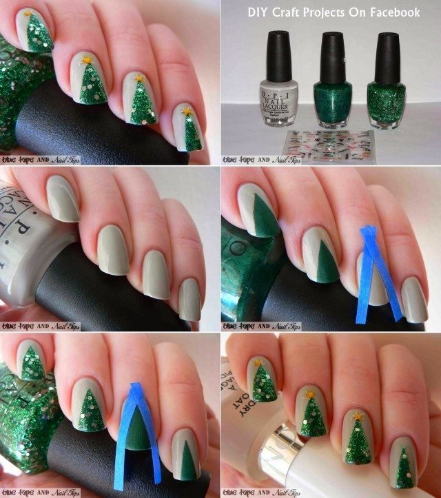 Christmas Nail Art Tutorial(159)