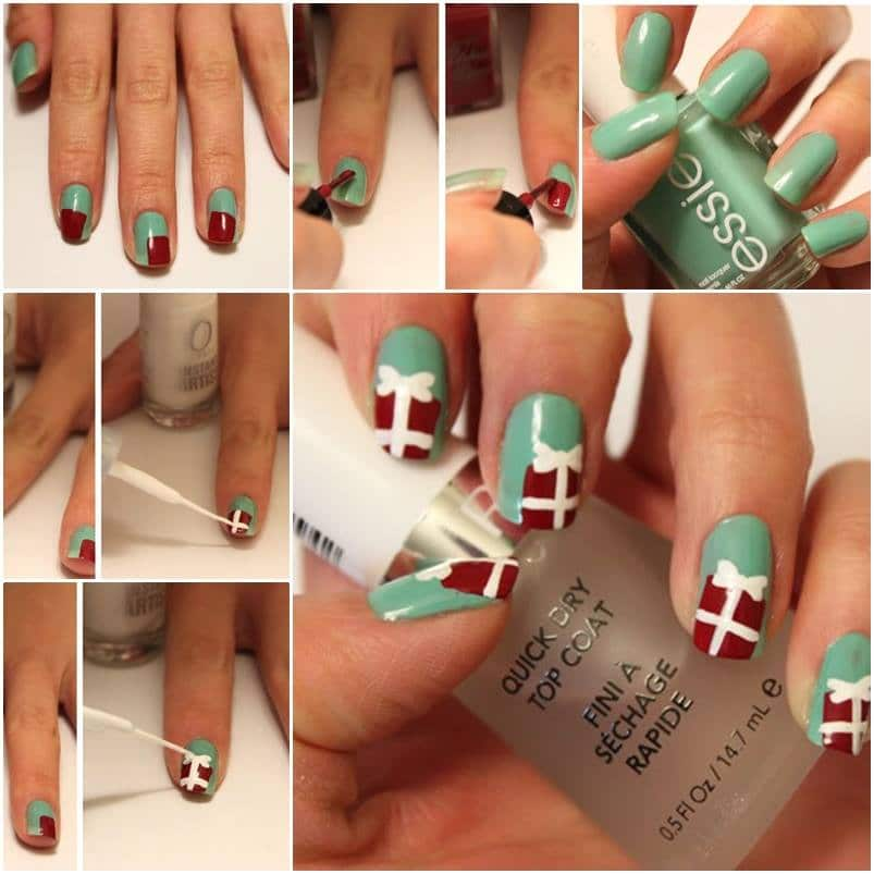Christmas Nail Art Tutorial(161)