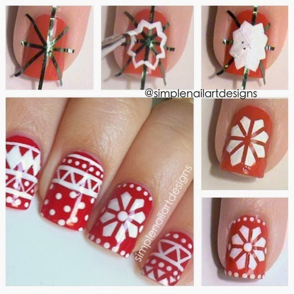 Christmas Nail Art Tutorial(162)