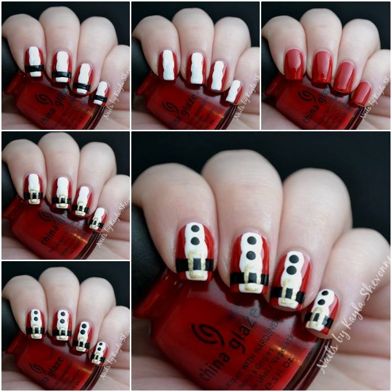 Christmas Nail Art Tutorial(163)