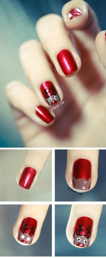 Christmas Nail Art Tutorial(164)