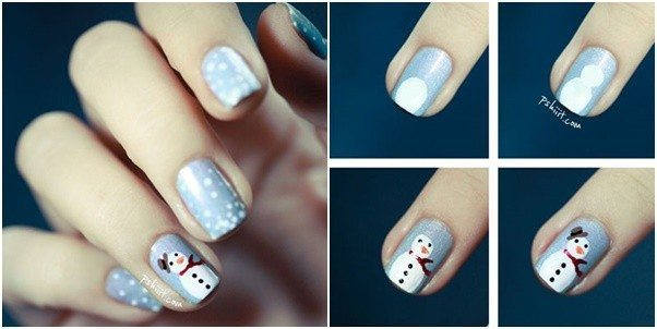 Christmas Nail Art Tutorial(167)