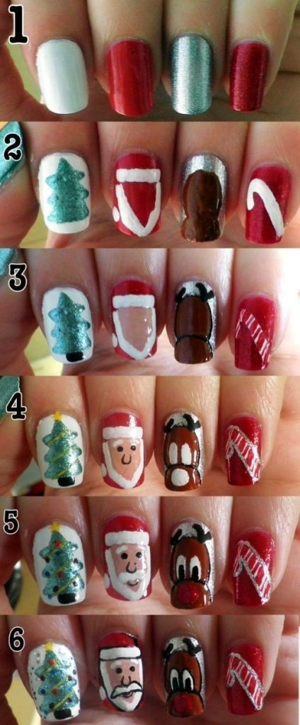 Christmas Nail Art Tutorial(169)