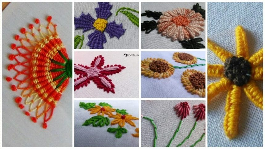 Embroidery Hand Stitches Tutorial Simple Craft Ideas Impressive Pillow Cover Hand Embroidery Designs