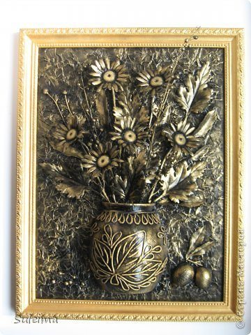 How to make flower panel for wall decoration