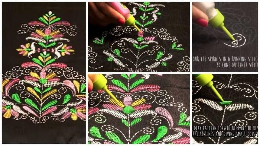Liquid Embroidery Butta