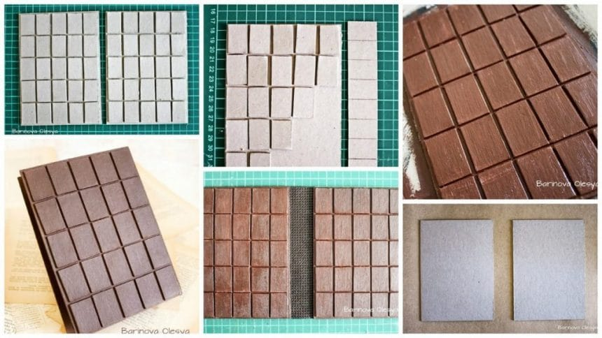 "How to make ""chocolate surface"" on the book cover"
