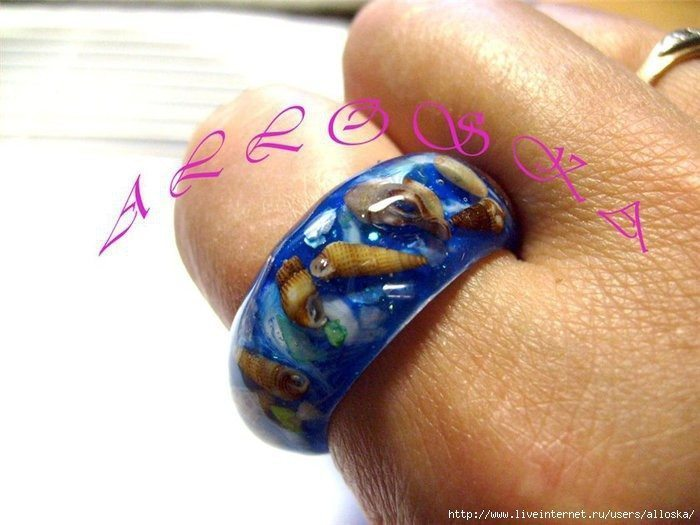How to make ring with natural seashells(116)