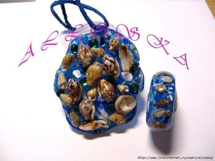 How to make ring with natural seashells(128)