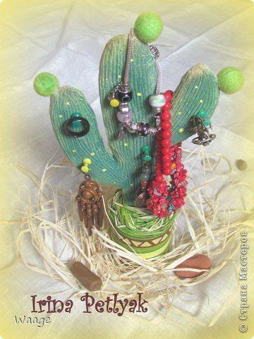 cactus shaped jewellery organizer(136)