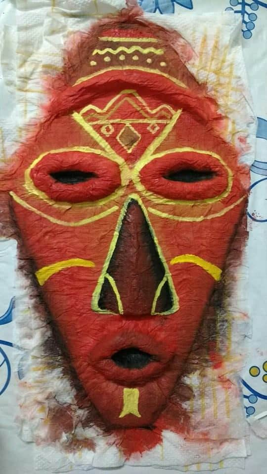 How To Make African Mask Simple Craft Ideas