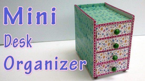 mini desk organizer