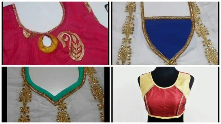 Designer blouse cutting and stitching