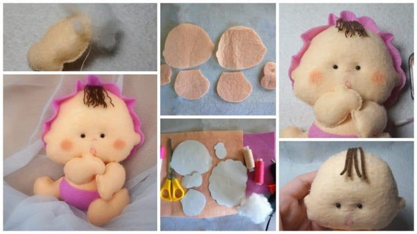 How to make felt baby doll