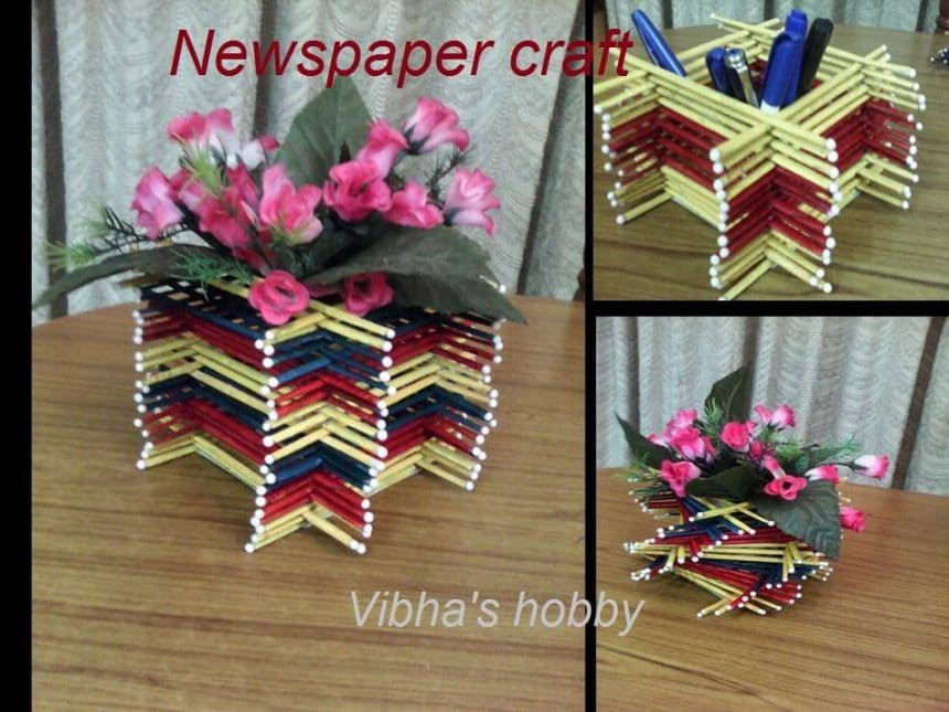 How To Make Vase From Newspaper Tube
